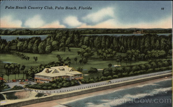 Bird's Eye View of Palm Beach Country Club Florida