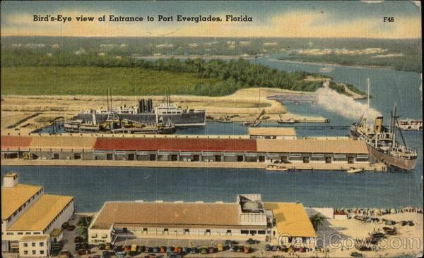 Bird's Eye View of Entrance to Everglades Port Everglades Florida