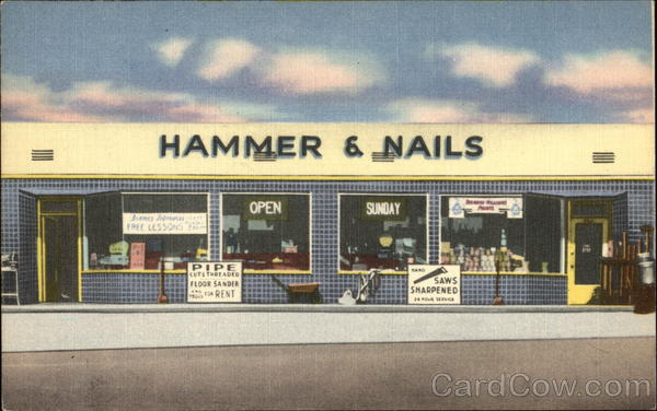 Street View of Hammer & Nails Hardware Store Pacific Beach California