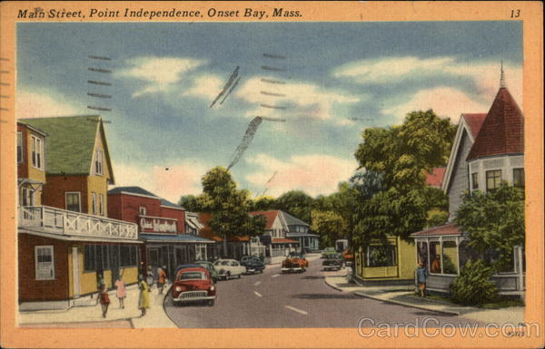 Main Street View of Point Independence Onset Massachusetts