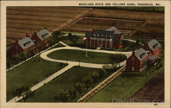 Aerial View of Maryland State Odd Fellows Home Frederick