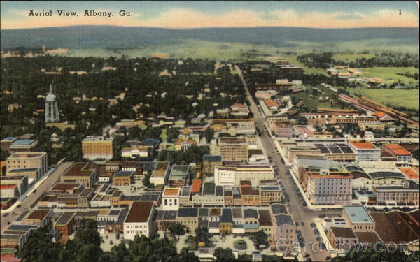 Aerial View of City Albany Georgia