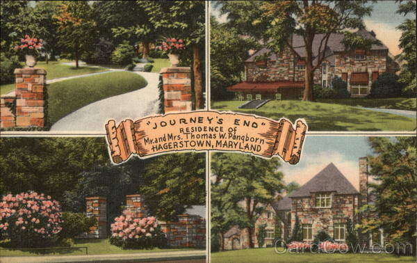 Journey's End - Residence of Mr. and Mrs. Thomas W. Pangborn Hagerstown Maryland