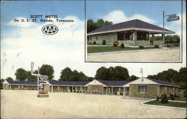 Scott Motel and Restaurant Oneida Tennessee