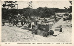 "Seabees Constructing a ""Sand"" Roadway"