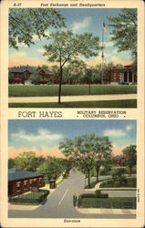 Fort Hayes Military Reservation - Entrance, Post Exchange & Headquarters