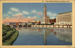 Civic Center Group on the Bank of Scioto River