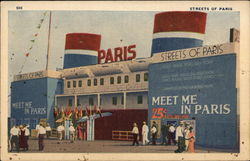 Streets of Paris Chicago's World's Fair Postcard