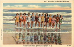 Won't You Have a Swim with US? - Greetings from Carolina Beach