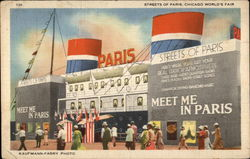 Streets of Paris, Chicago World's Fair Postcard