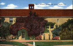 The vine-covered Dormitory Hall at Jesuit Retreat House