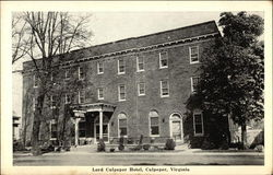 Street View of the Lord Culpeper Hotel Postcard