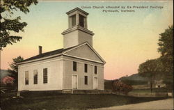 Union Church attended by Ex-President Coolidge