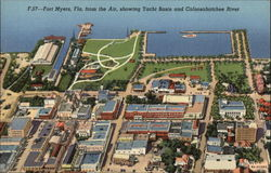 Aerial View Showing Yacht Basin & Caloosahatchee River