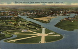 Bird's-eye View of Davis Islands, Showing Airport