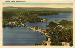 Naples, Maine - From the Air Postcard