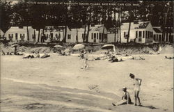 Private Bathing Beach at Yarmouth Seaside Village, Bass River Postcard