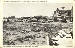 The Great New England Hurricane of 1938, Wreckage Looking up Beach Street