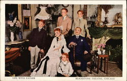 Life with father, Blackstone Theatre Postcard
