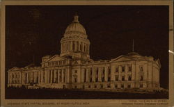 State Capital Building By Night