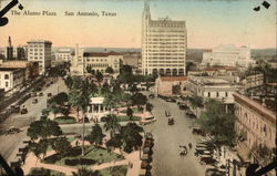 Aerial View of The Alamo Plaza