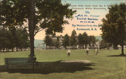 Forest Hills Hotel and Grounds from No. 9 Fairway, Franconia