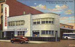 Greyhound and West Ridge Bus Depot, N. Perry Square