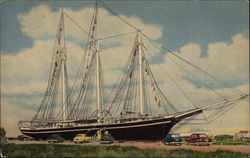 "The Schooner ""Lucy Evelyn"" - Built 1917 in Harrington, Maine"