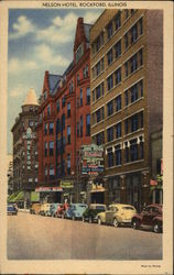 Street View of Nelson Hotel Postcard