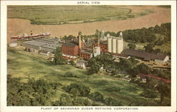 Aerial View - Plant of Savannah Sugar Refining Corporation