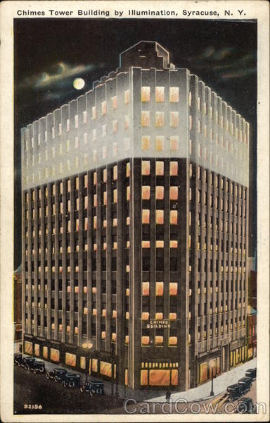 Chimes Tower Building by Illumination Syracuse New York