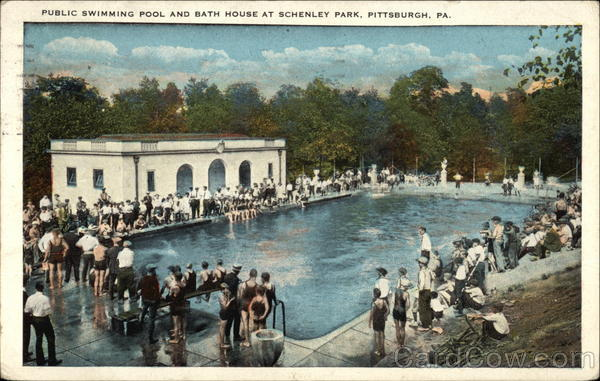 Schenley park public swimming pool and bath house - Riverview swimming pool pittsburgh pa ...