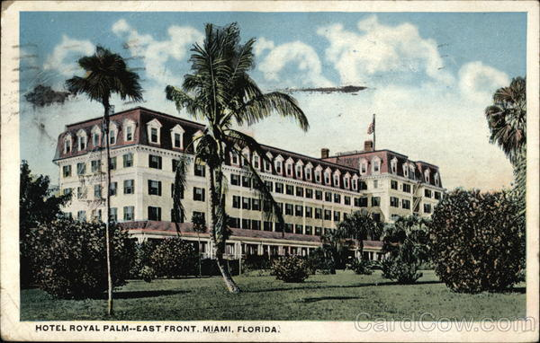 Hotel Royal Palm - East Front Miami Florida