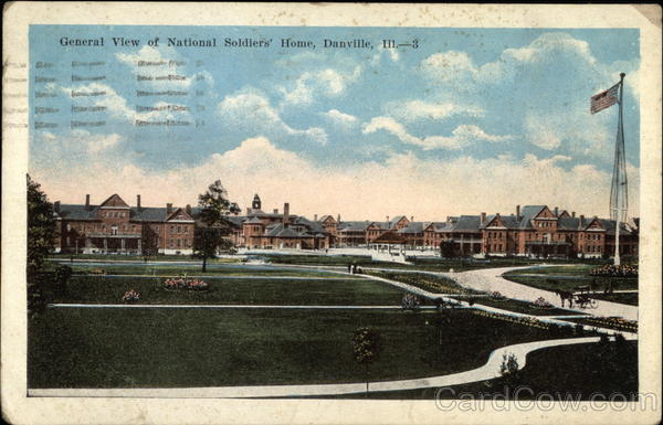 General View of National Soldiers' Home Danville Illinois