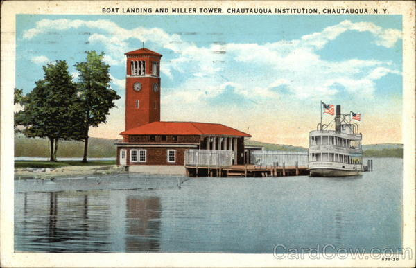 Boat Landing and Miller Tower at Chautauqua Institution New York