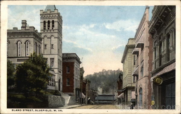 View of Bland Street Bluefield West Virginia
