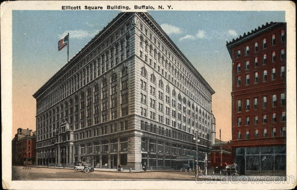 Street View of Ellicott Square Building Buffalo New York