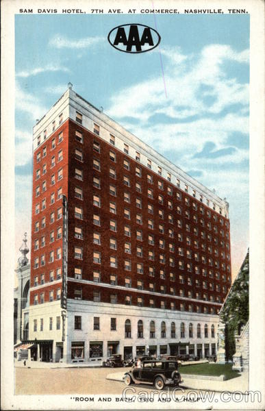 Sam Davis Hotel, 7th Ave. at Commerce Nashville Tennessee