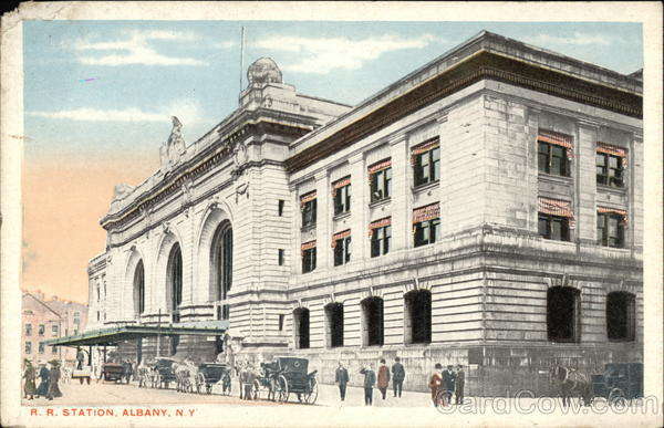 Street View of Railroad Station Albany New York