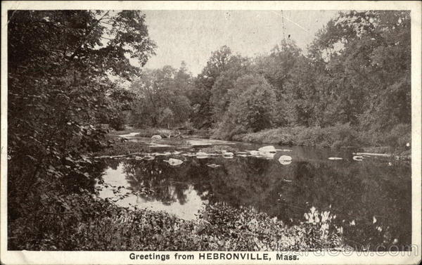 View of River Hebronville Massachusetts