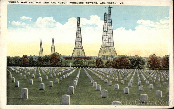 World War Section and Arlington Wireless Towers Virginia