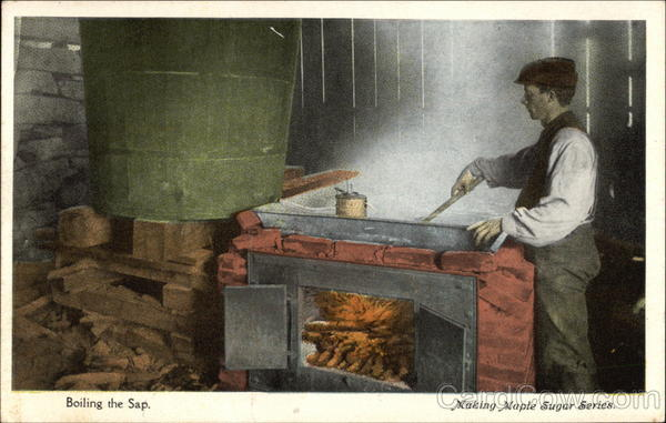 Boiling the sap; Making Maple Sugar Series Vermont