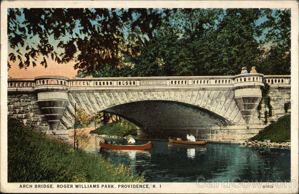 Arch Bridge in Roger Williams Park Providence Rhode Island