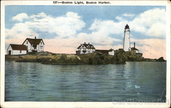 Boston Light, Boston Harbor Massachusetts
