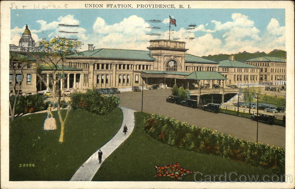 View of Union Station and Grounds Providence Rhode Island