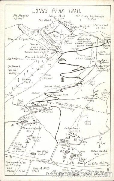 Longs Peak Trail Maps