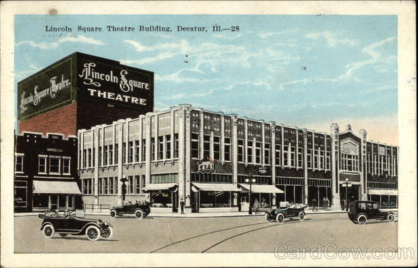 Street View of Lincoln Square Theatre Building Decatur Illinois