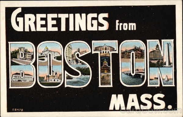 Greetings from Boston, Massachusetts Large Letter