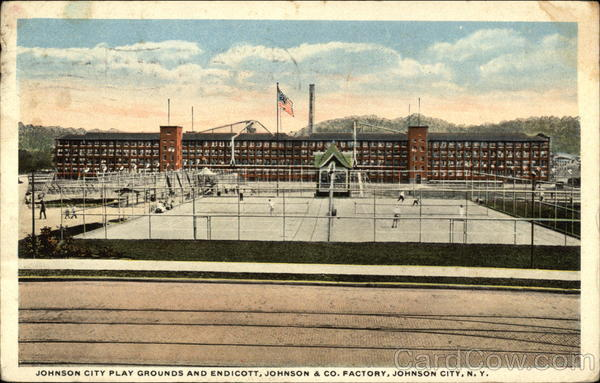 Johnson City Play Grounds and Endicott, Johnson & Co. Factory New York