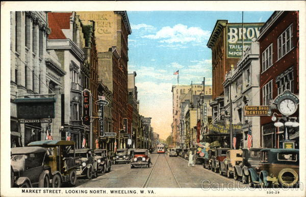Market Street, Looking North Wheeling West Virginia